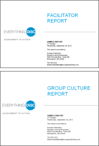 Everything DiSC Group and Facilitator Reports