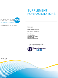 Everything DiSC Supplement for Facilitators