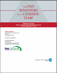 Five Behaviors of a Cohesive Team Profile