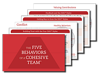 Five Behaviors Take Away Cards