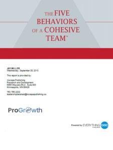 The Five Behaviors™ Team Assessment Profile.